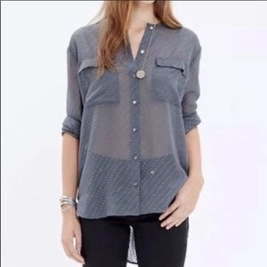 MadeWell Ice Leaf Swiss dot blouse large